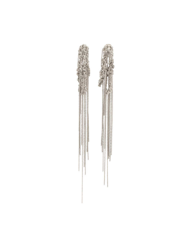 Hairy Drip Earrings in Silver