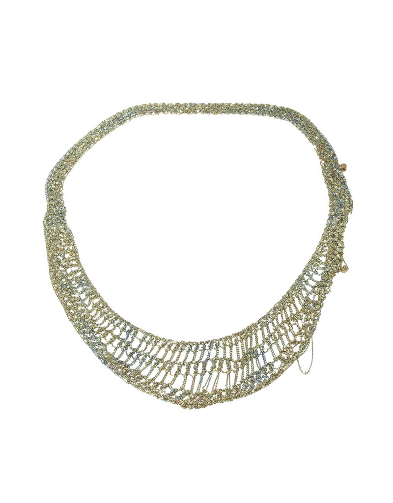 Lattice Collar in Oxidized Silver & Stainless Steel