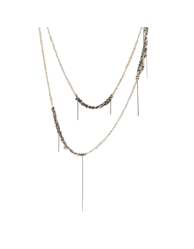Melded Simple Atelier Necklace in Oxidized Silver