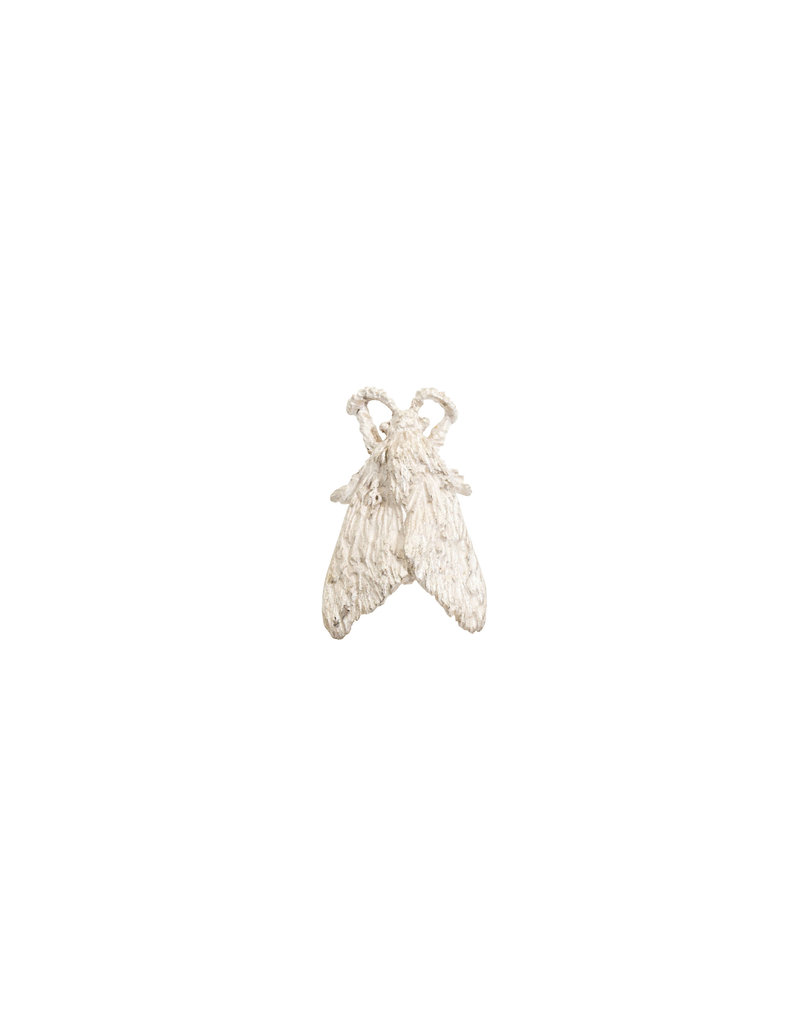 Tiger Moth Lapel Pin in Silver