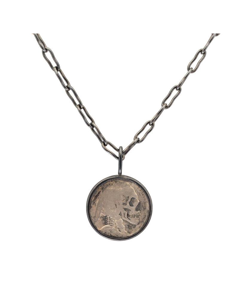 Hobo Nickel Set in Oxidized Silver