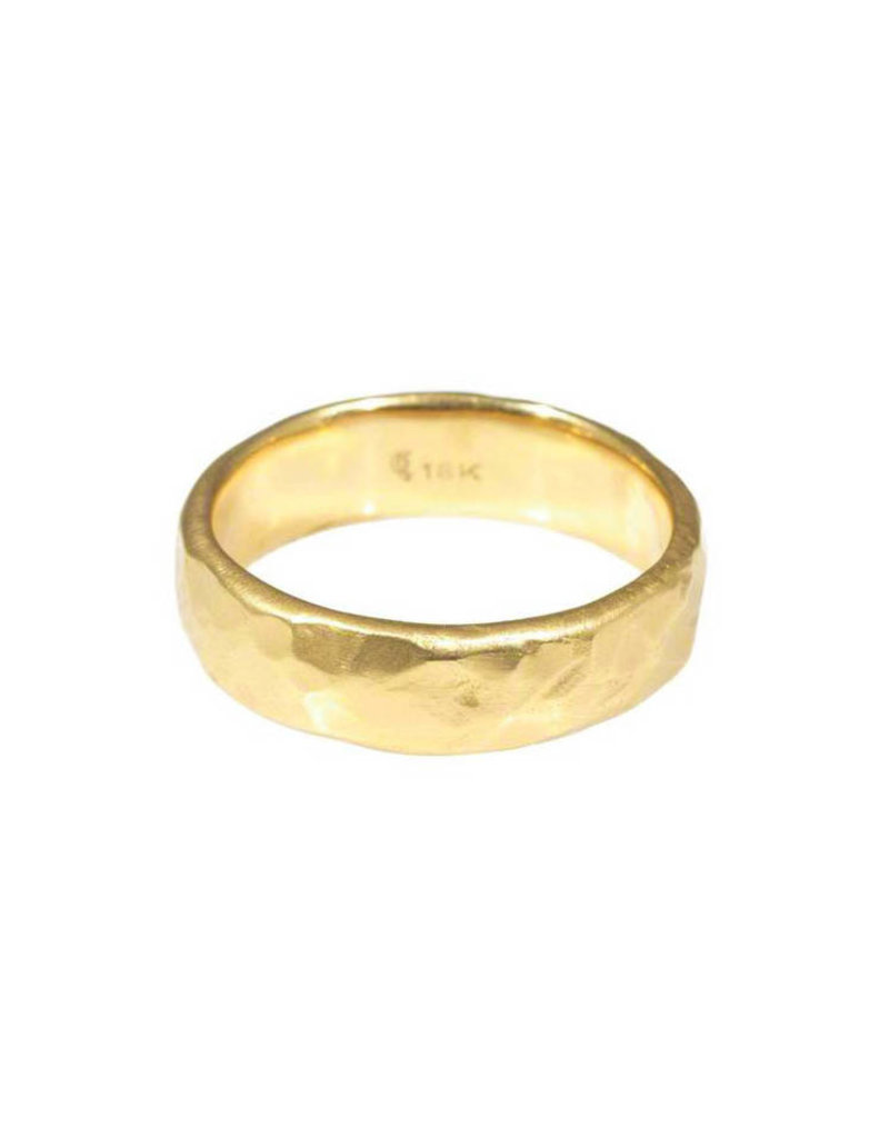 6mm Rough Band in 18k Yellow Gold