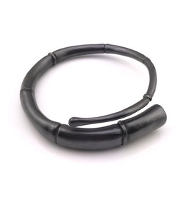 Kai Wolter Single Black Tendril Bangle Bracelet