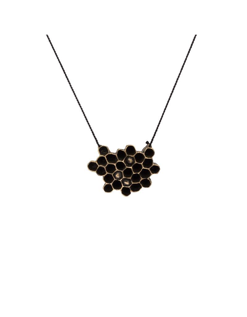 Honeycomb Pendant in Bronze