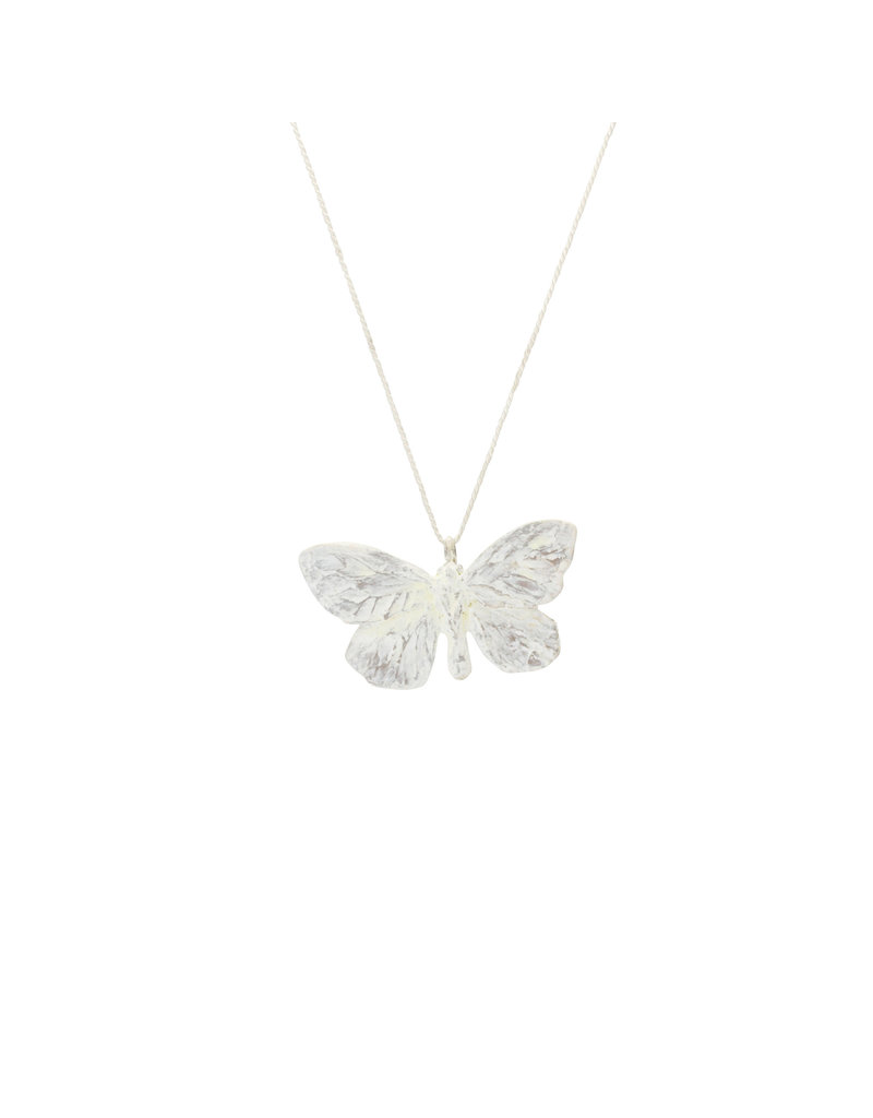 Cabbage White Butterfly Pendant in Bronze