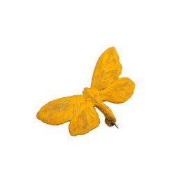 Sulphur Butterfly Brooch in Bronze