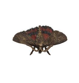 Red Underwing Moth Brooch in Bronze