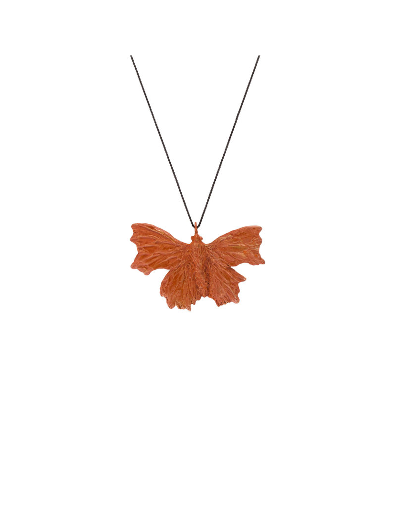 Comma Butterfly Pendant in Bronze