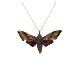 Sphinx Moth Pendant in Bronze