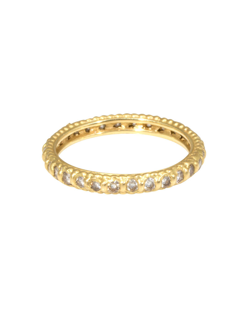 Rapunzel Ring in 18k Yellow Gold with White Diamonds