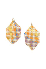 Maral Rapp Abstract Color Antique Mesh Earrings