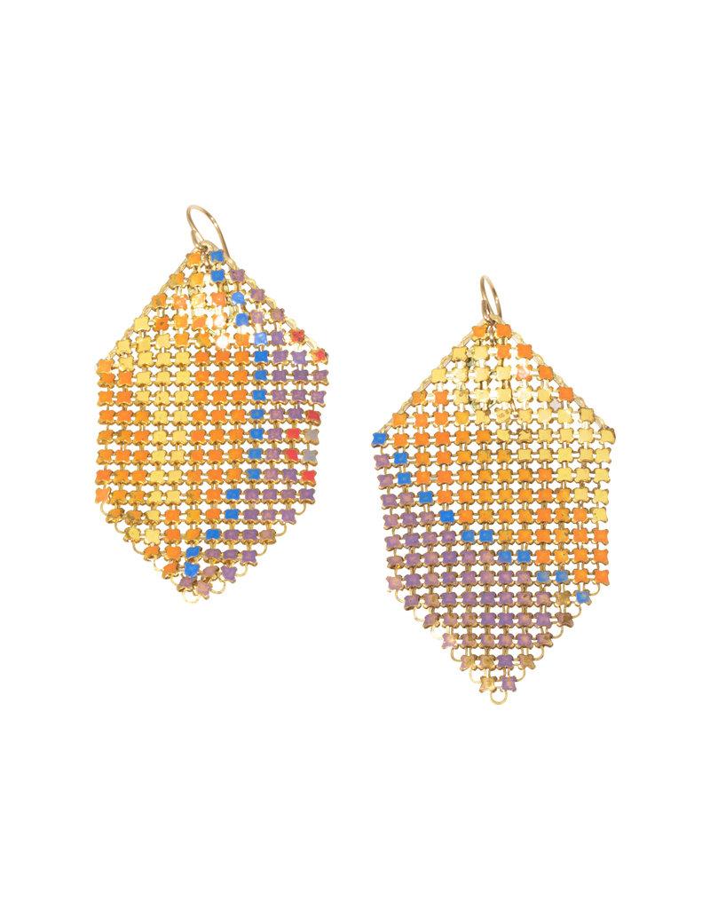 Maral Rapp Color Splash Earrings in Orange & Blue