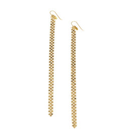Maral Rapp Slim Gold Mesh Duster Earrings