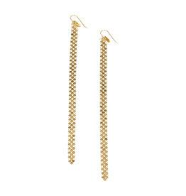 Maral Rapp Slim Gold Mesh Duster Earrings