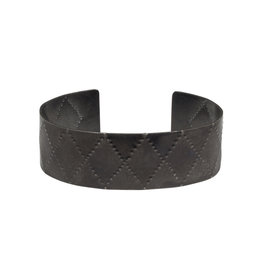 Criss Cross Cuff in Oxidized Silver
