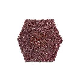 Vintage Pink Bead Brooch