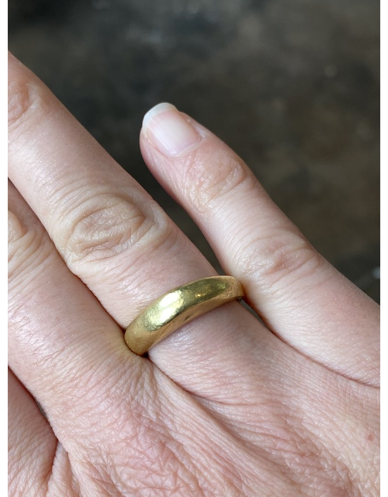 Smooth Chunky Ring in Brass