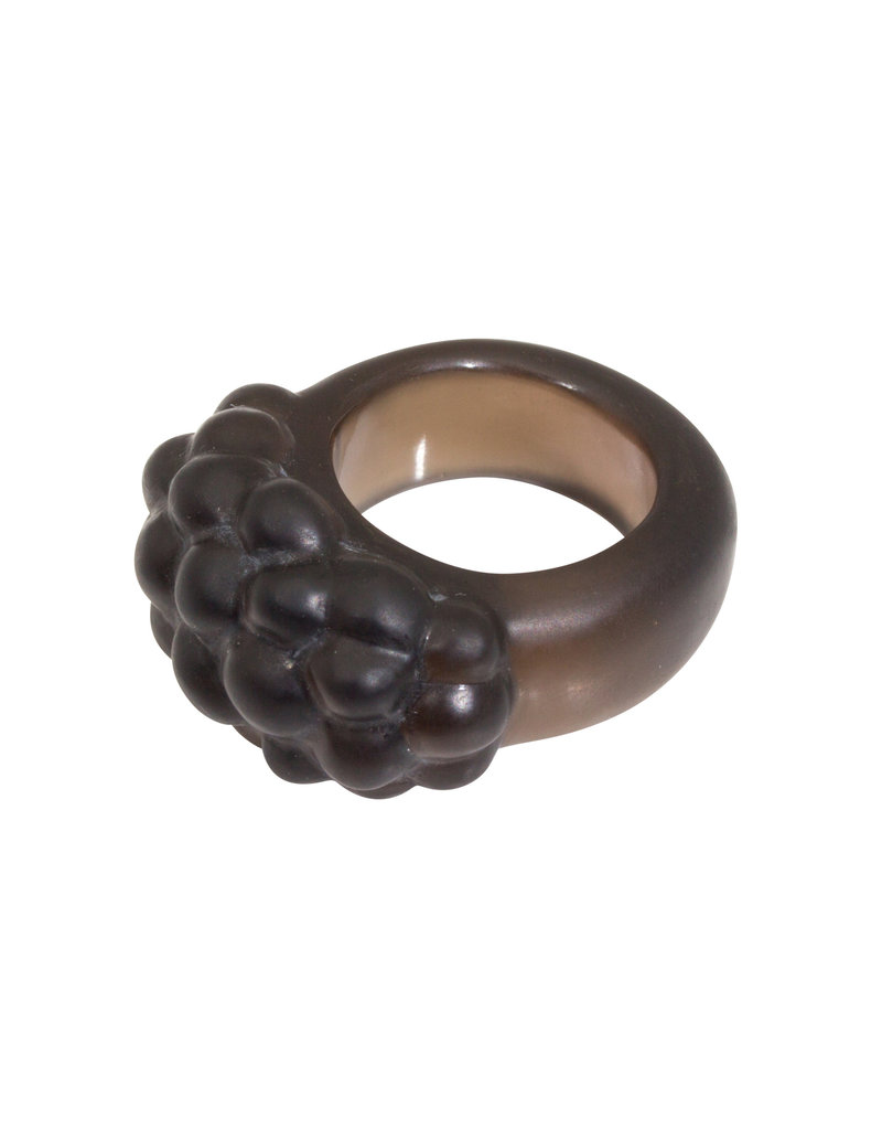 Smoky Quartz Ring + Cluster Ring in 18k Yellow Gold