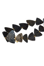 Triangle Link Bracelet in Damascus Steel and 18k Yellow Gold