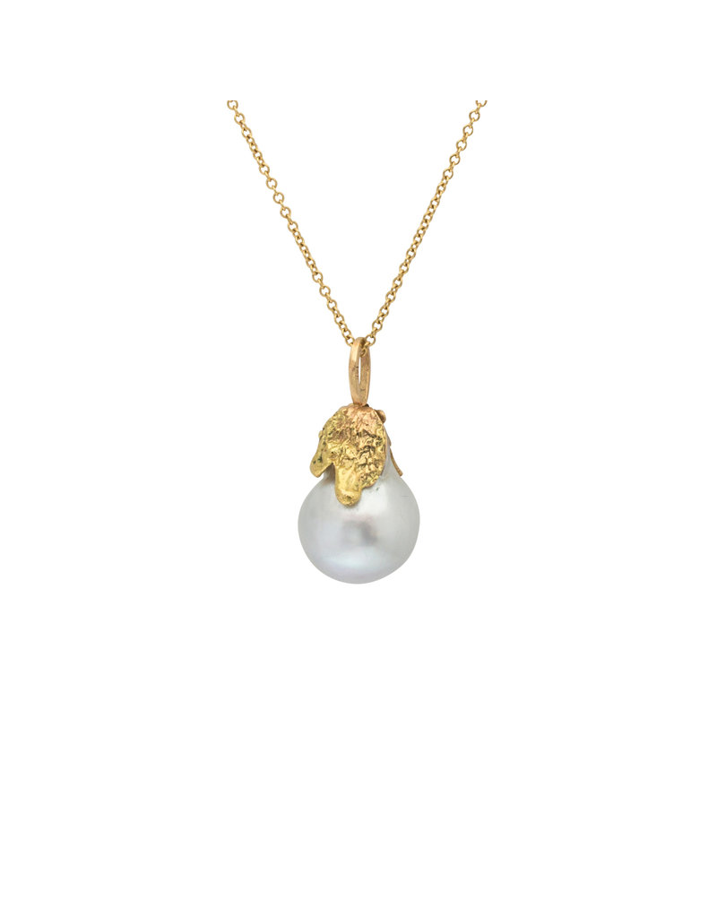 South China Sea Pearl Pendant in 14k Yellow Gold