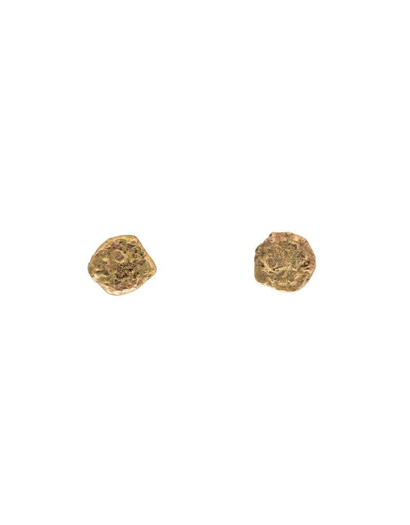 Aina Post Earrings in 14k Yellow Gold