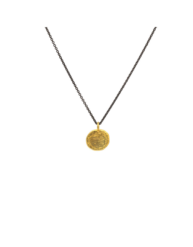Keum-boo Pendant in 24k Gold and Silver