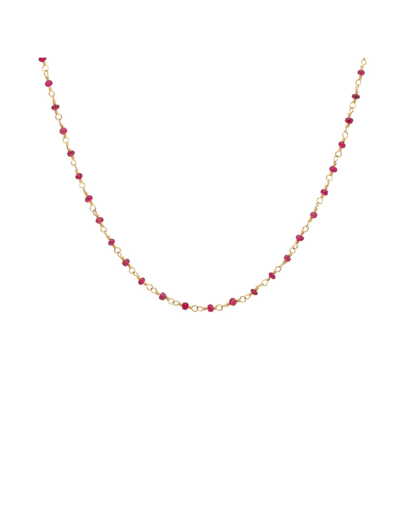 Pink Spinel Wire Wrapped Necklace