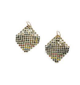 Maral Rapp Iridescent Peacock Confetti Earrings