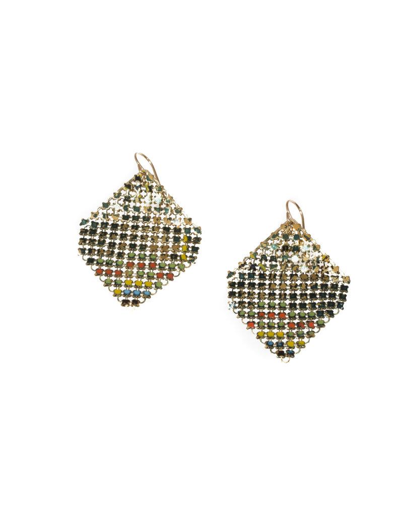 Maral Rapp Iridescent Peacock Confetti Earrings