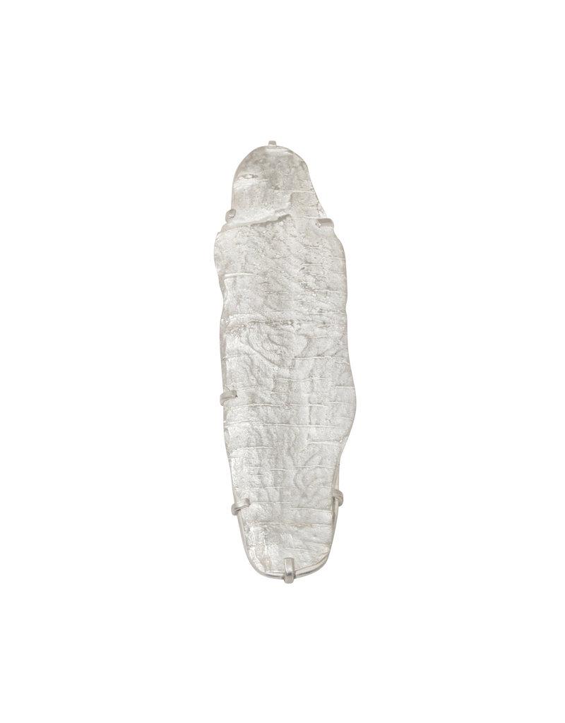 Bark Texture Brooch in Silver