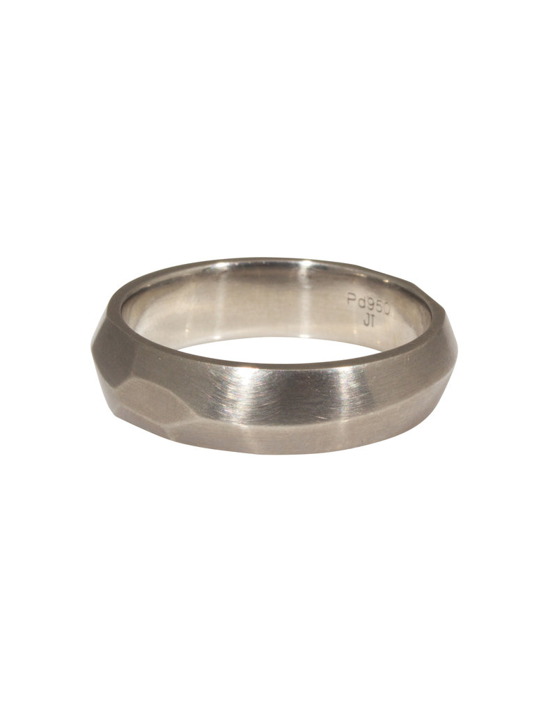 Vault Ring in Palladium