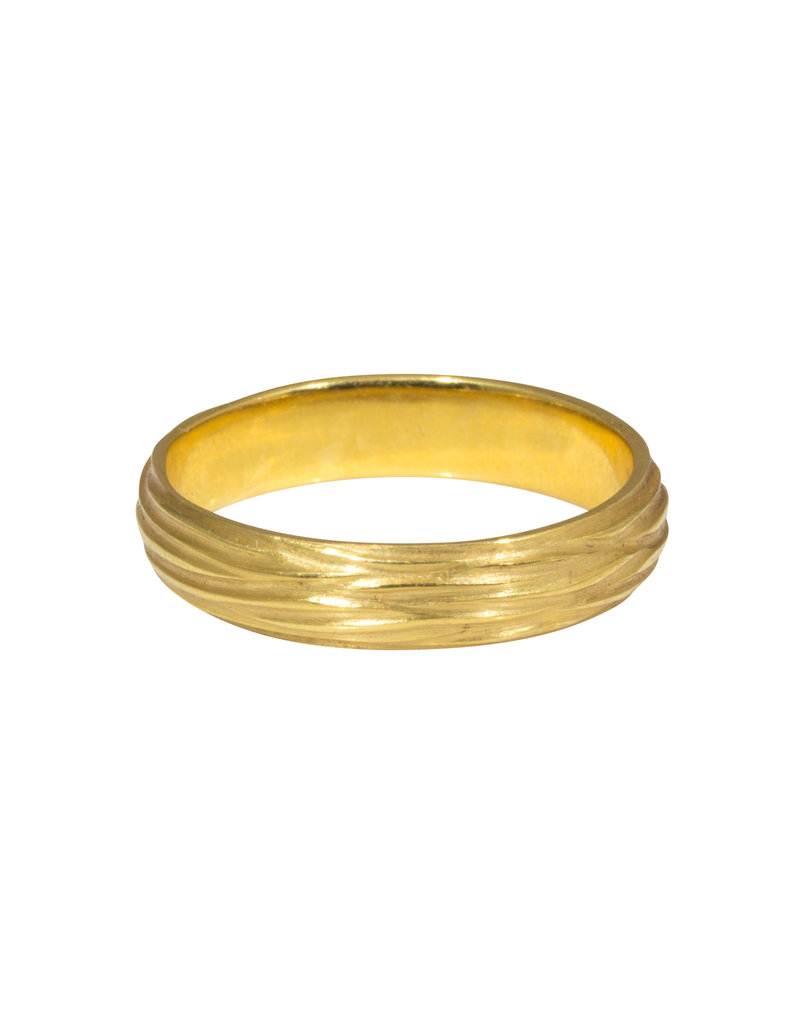 Sea Grass Ring in 18k Yellow Gold
