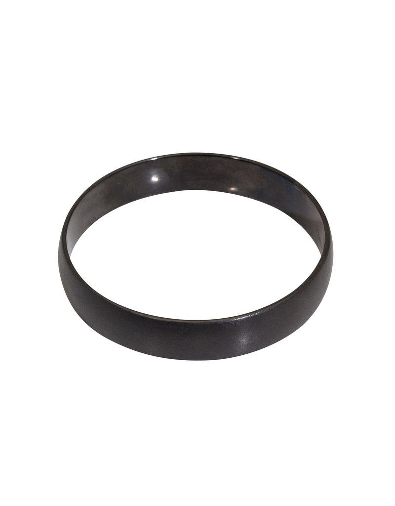Black Zirconia 12mm Ceramic Flat Bangle