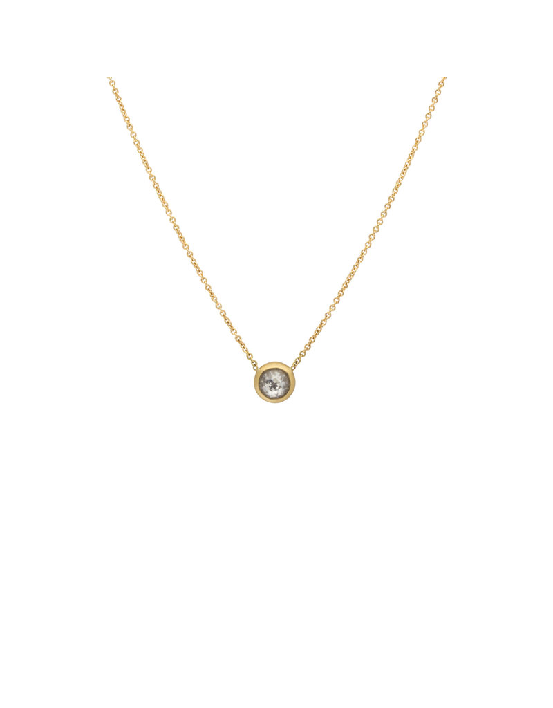 Round Mogul Rose Cut Diamond Pendant in 18k Gold