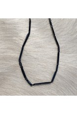 Alianna Necklace in Oxidized Silver and Silk