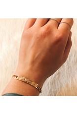 Infinity Snake Bracelet in 14k Gold with White Diamond
