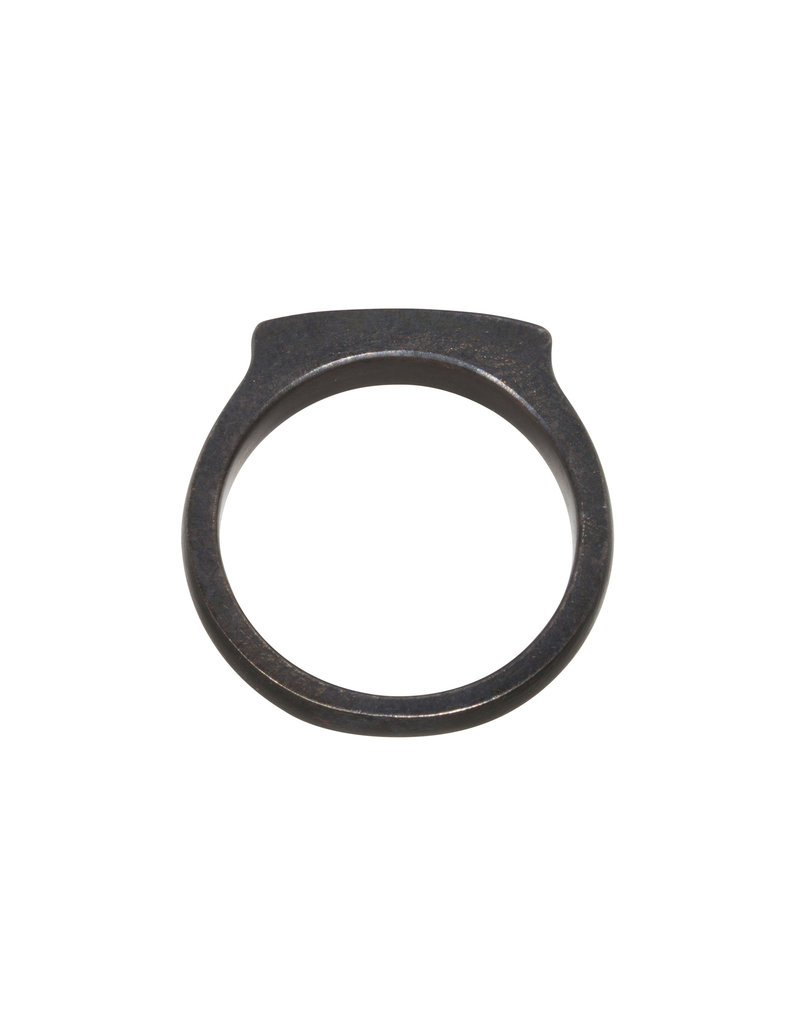 5mm Channel Ring in Oxidized Silver