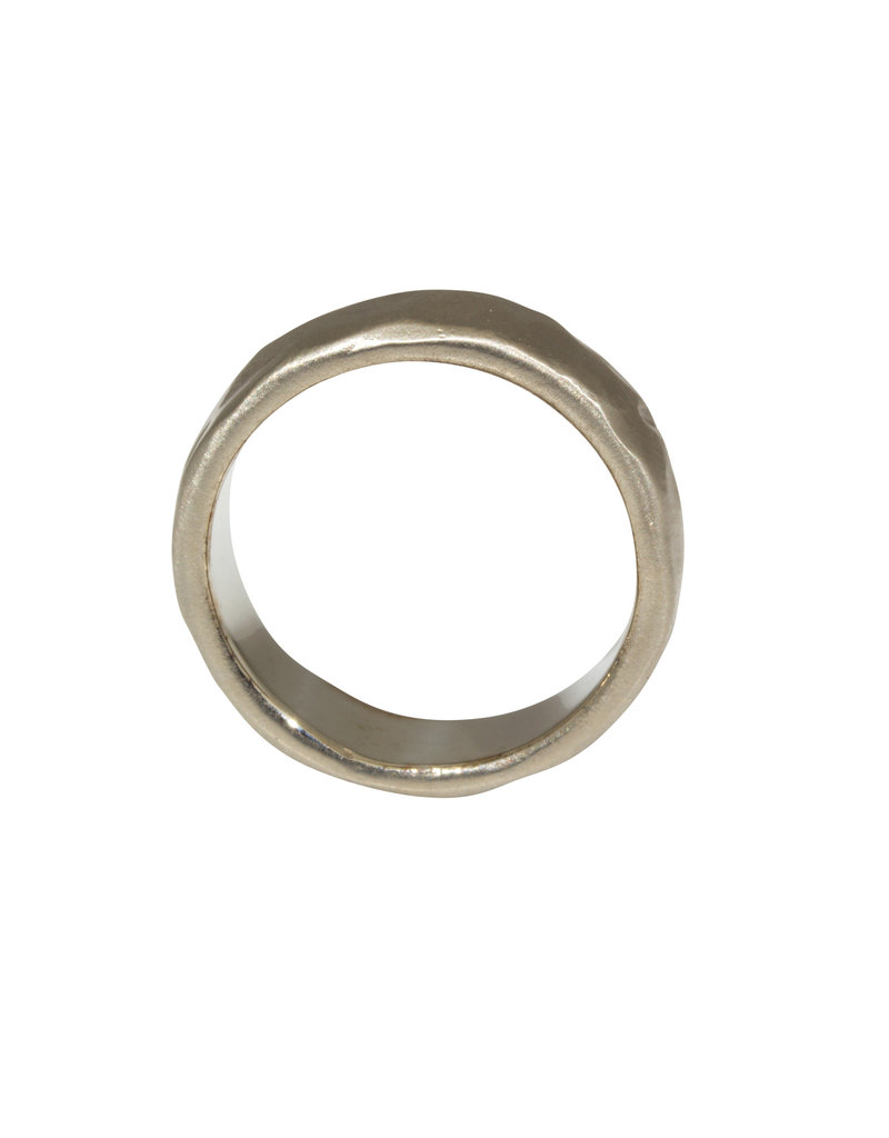 6mm Rough Band in 14k White Gold