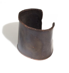 June Schwarcz Copper Cuff with Dark Patina