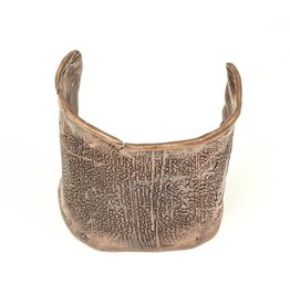 June Schwarcz Copper Cuff with Straight Texture
