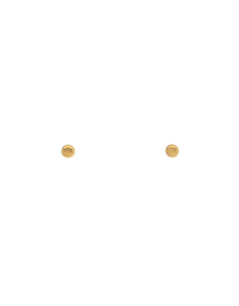Iota Post Earrings in 18k Yellow Gold