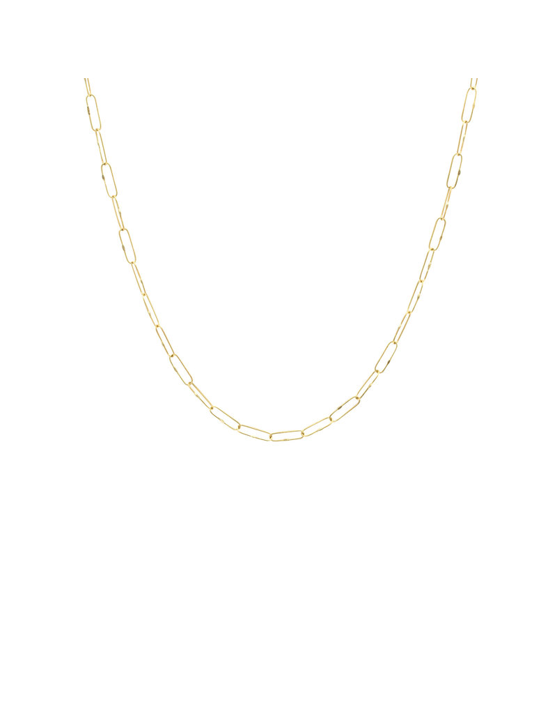 """Short Links Chain in 18k Yellow Gold - 18"""""""
