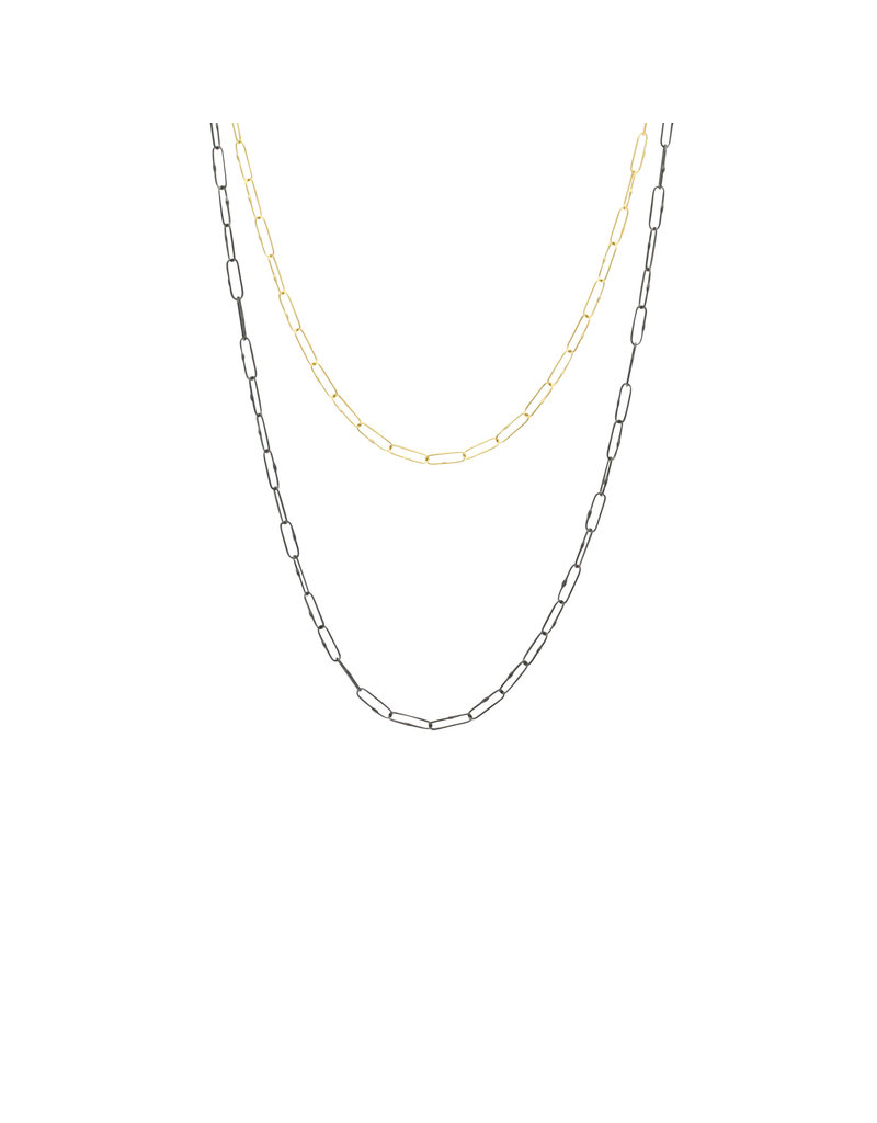 Lightweight Short Links Chain in 18k Yellow Gold - 18""