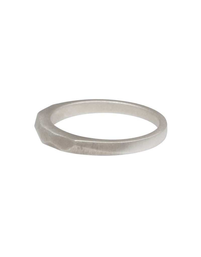 Narrow Vault Ring in Silver
