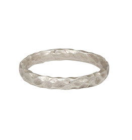 Small Crater Ring in Silver