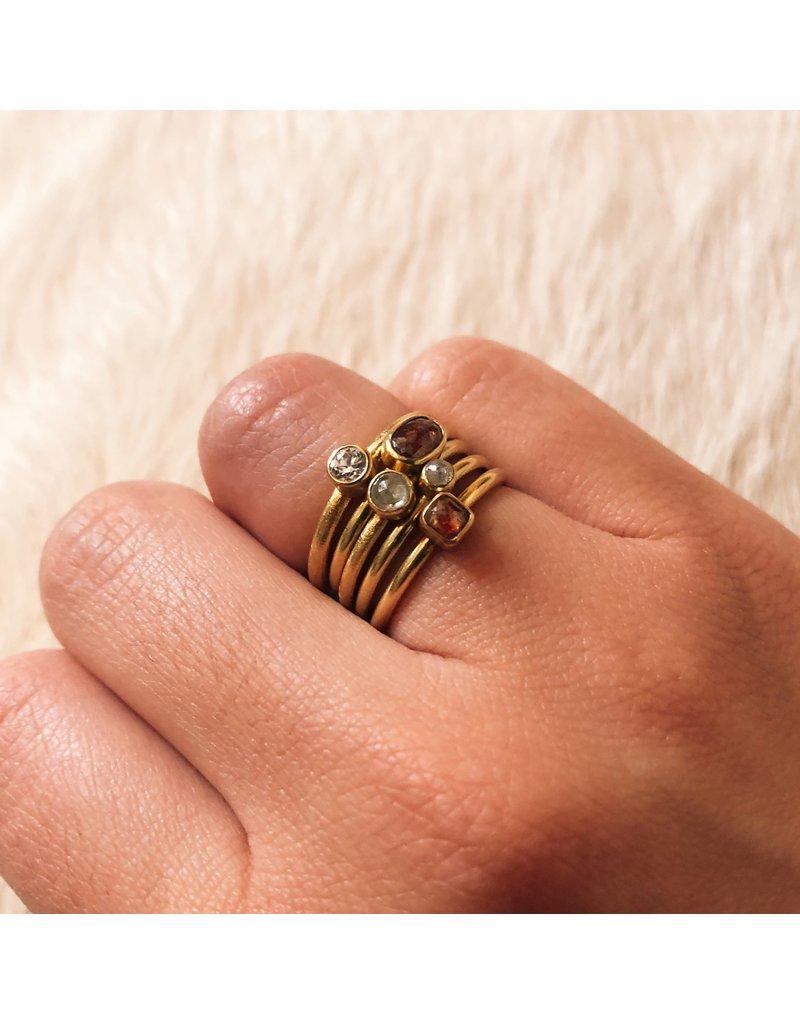 Rustic Diamond Stacking Ring