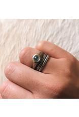 Round Rose Cut Ice Diamond in 14k White Gold