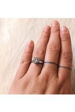 Maya Ring Sample in Palladium with CZ