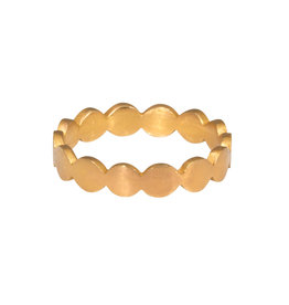 Rose Gold Flattened Circles Band