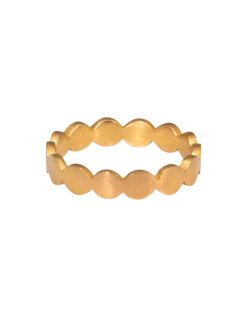 Flattened Circles Band in 18k Rose Gold